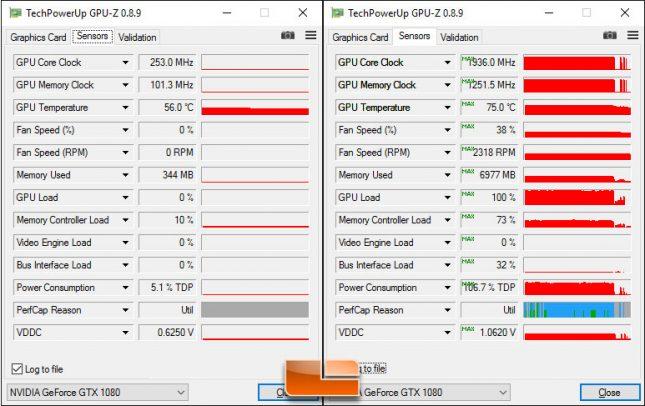EVGA GeForce GTX 1080 SC Temps