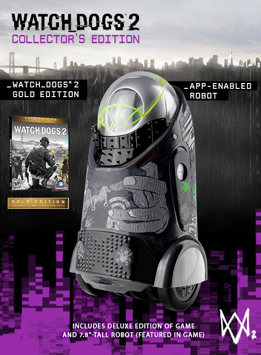 watch dogs 2 preorder collectors edition app enabled robot