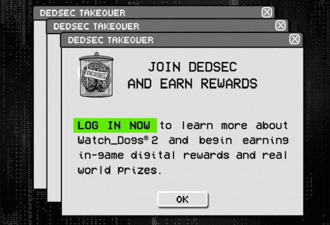 watch dogs 2 rewards log in