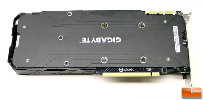 Gigabyte GeForce GTX 1070 G1 Gaming Backplate