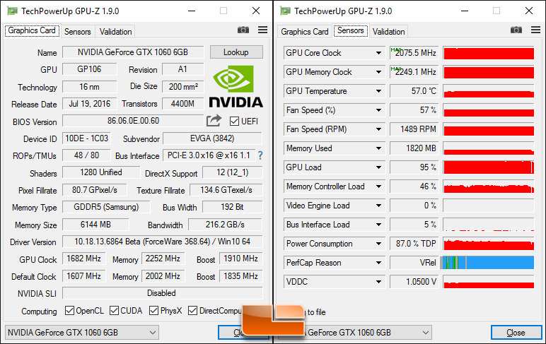 NVIDIA and EVGA GeForce GTX 1060 Video Card Review - Page 13