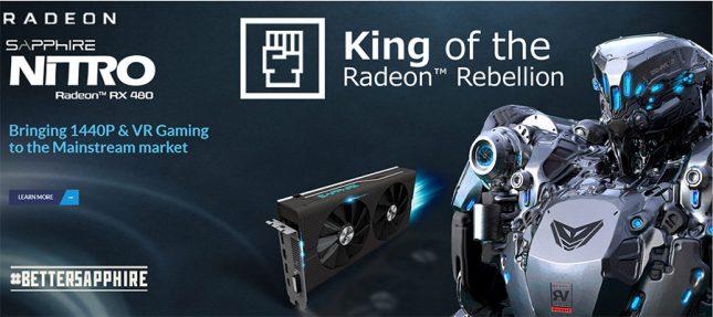 Sapphire Nitro Radeon RXX 480