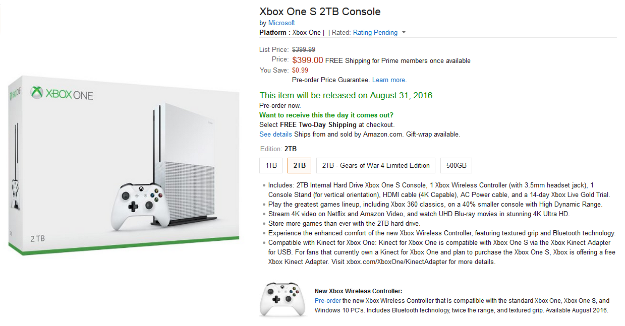 New Xbox One S May Release At The Beginning Of August