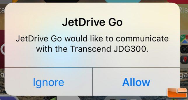 JetDrive Go 300 Allow