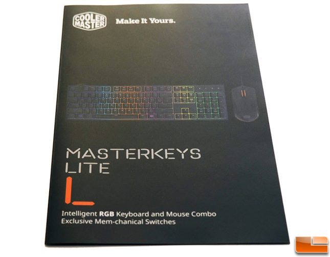 Masterkeys Lite L Combo Manual