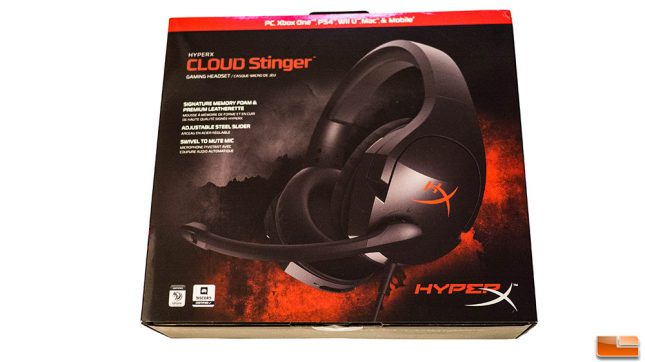HyperX Cloud Stinger Packaging