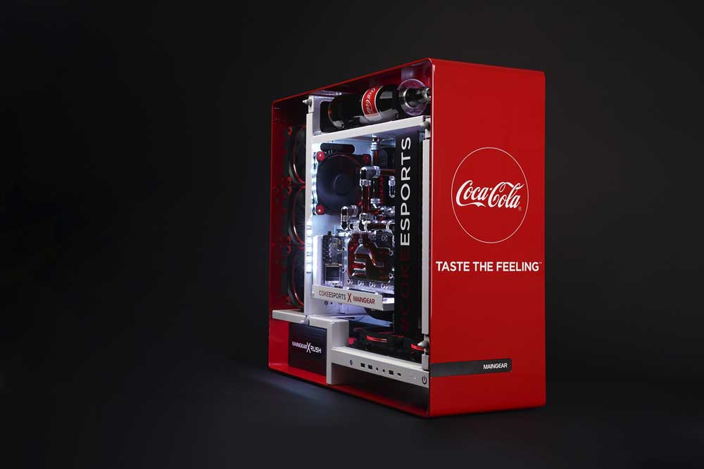 Maingear Creates Custom Coca Cola Esports Gaming Pc