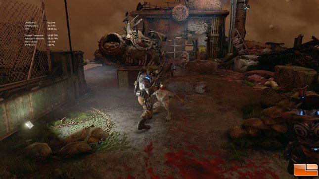 Gears of War 4 built-in benchmark