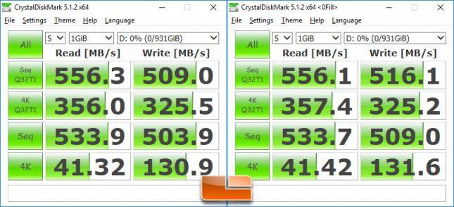 WD Blue 1TB SSD CrystalDiskMark