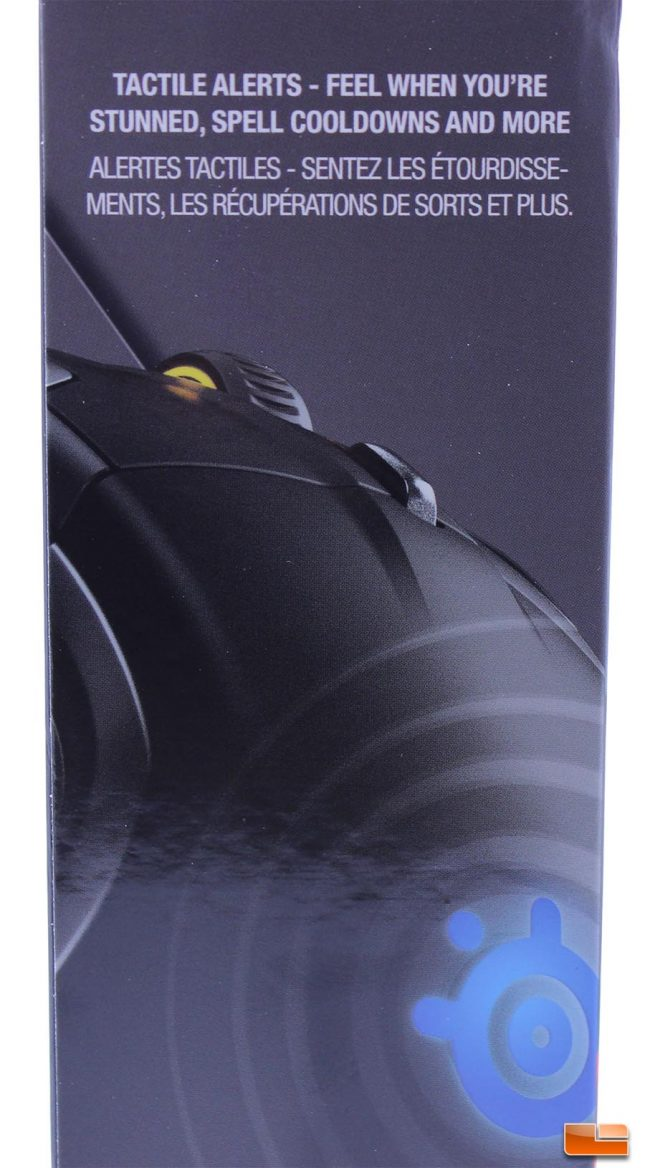 SteelSeries Rival 500 Box w/Tactile Alert marketing