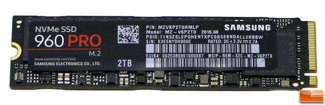 Samsung SSD 960 Pro 2TB Drive