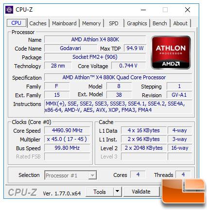 Amd Athlon X4 880k Processor Review Overclocking To 4 5 Ghz Page 6 Of 8 Legit Reviewsamd X4 880k Overclocking