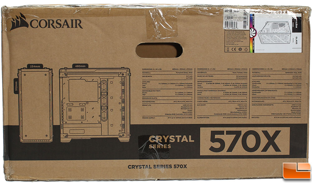 Corsair Crystal 570X Tempered Glass Case Review - Legit