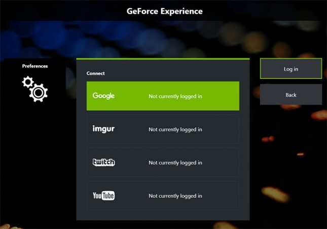 GeForce Experience Connect