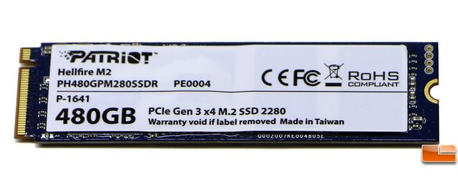 Patriot Hellfire M.2 480GB PCIe SSD