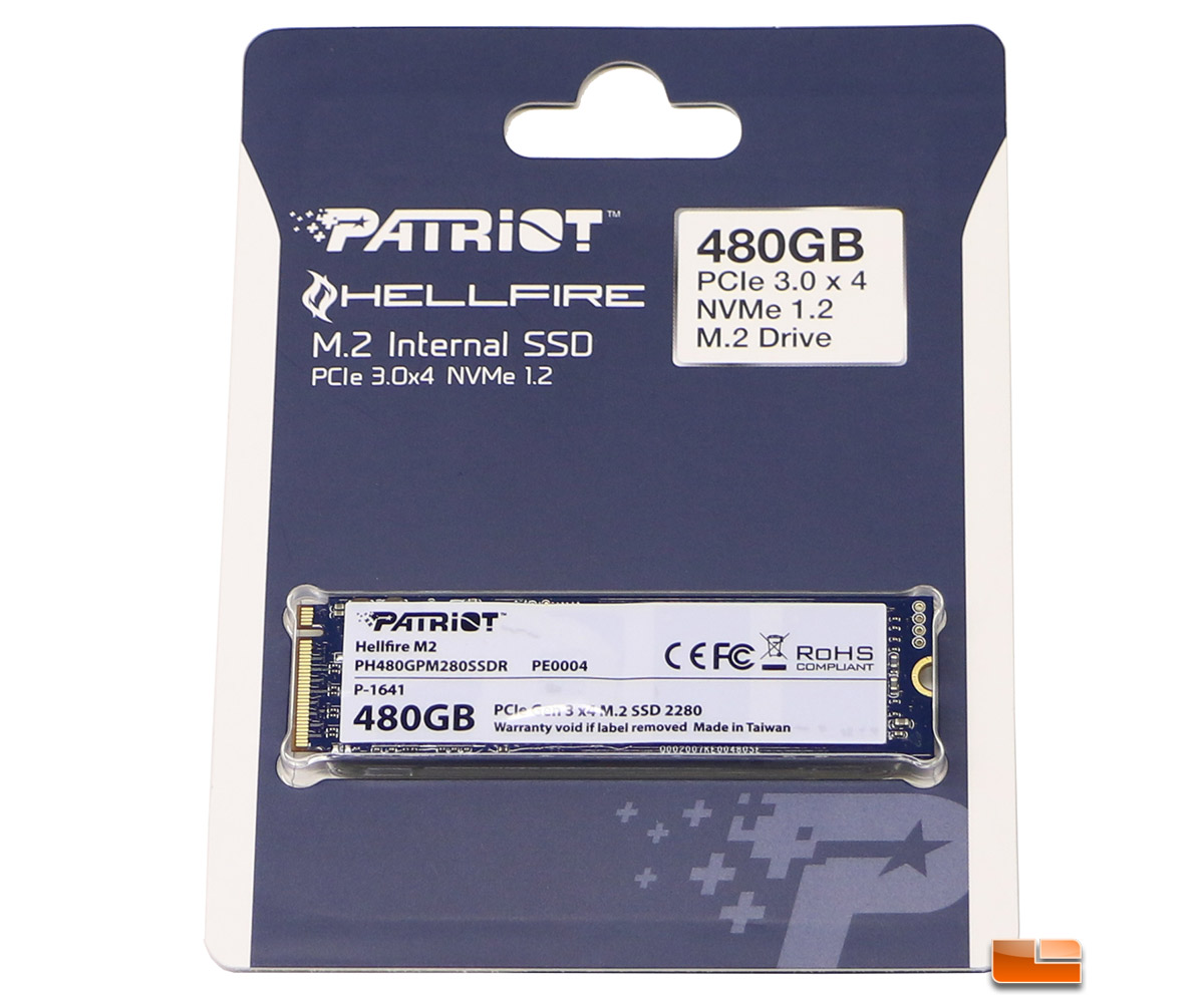 Patriot Hellfire M 2 480GB NVMe SSD Review - Legit