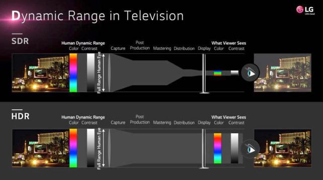 LG's HDR v. SDR visual description