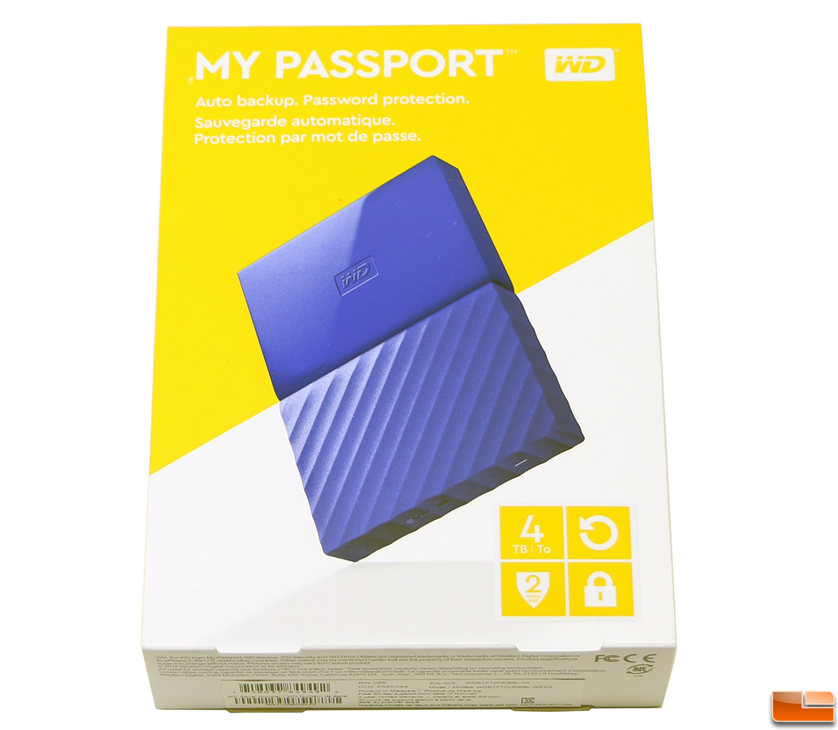 WD My Passport 4TB 2016 Edition Portable External Hard Drive