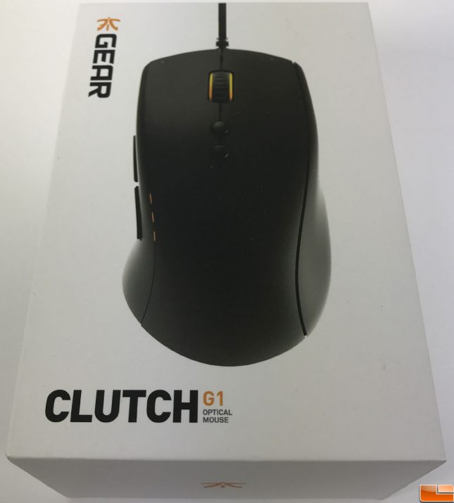 Fnatic Clutch G1 Gaming Mouse Box Top
