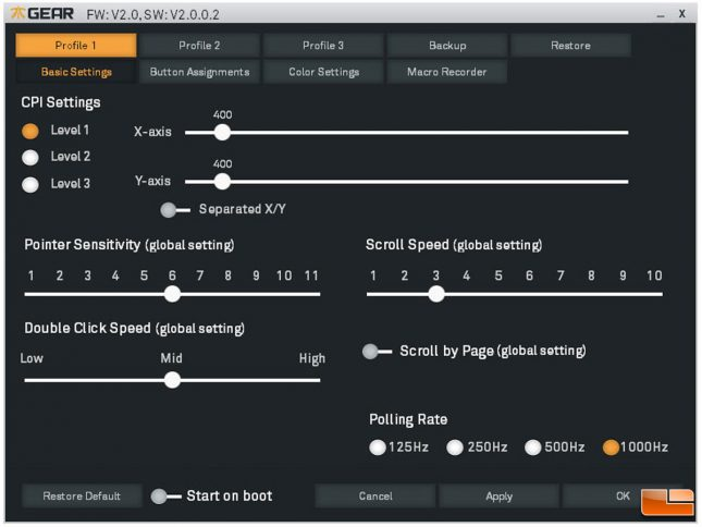Fnatic Clutch G1 Gaming Mouse Software