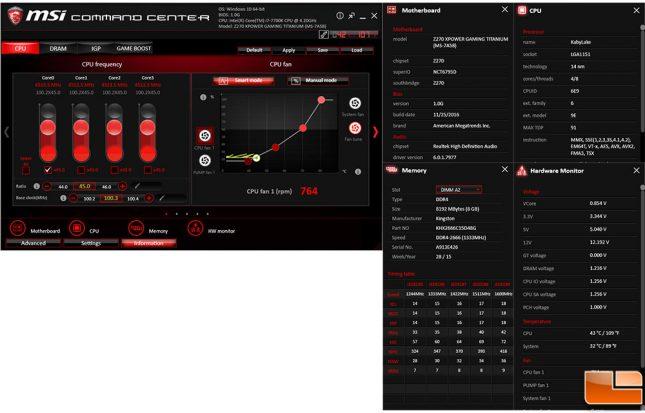 MSI Z270 XPower Gaming Titanium Command Center