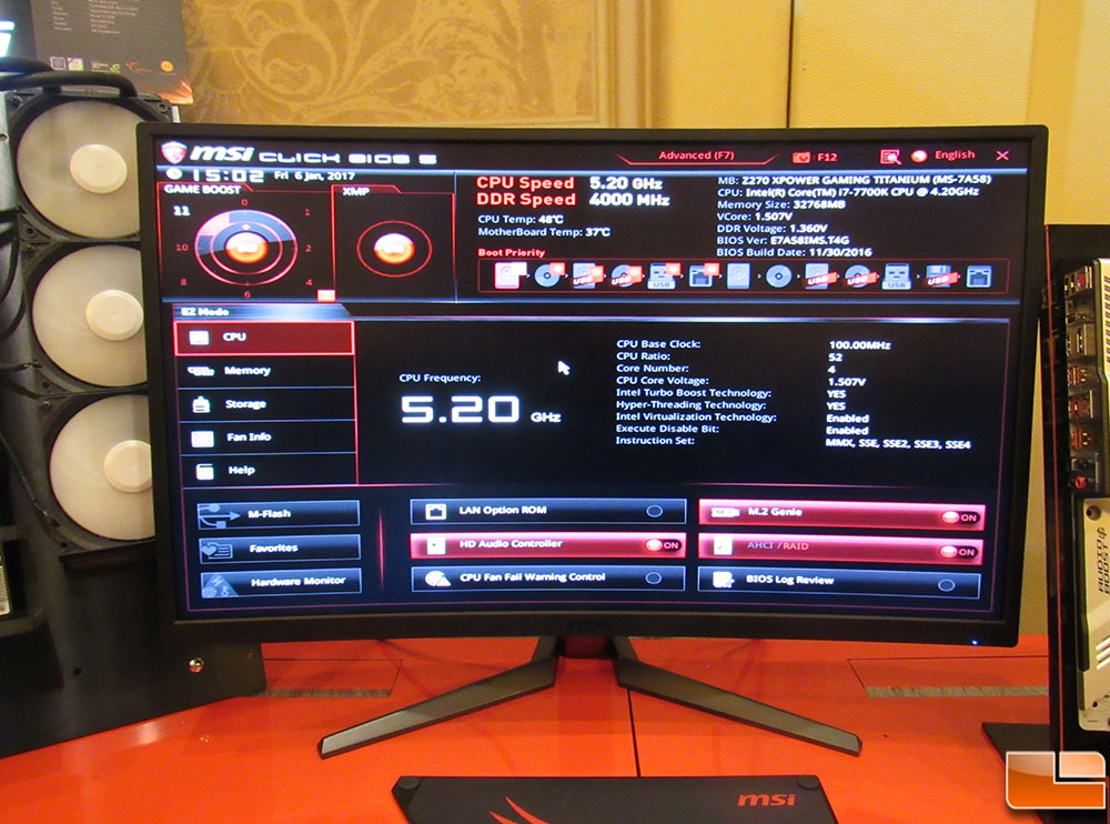 MSI Allowing CPU Overclockers To Hit 5 2GHz On Select Intel