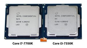 Intel Core i7-7700K and Core i3-7350K