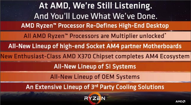 Ryzen Processor Overview