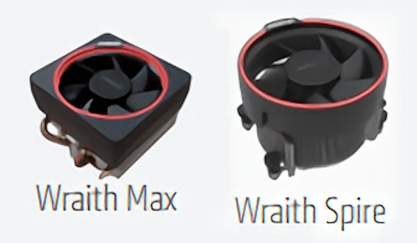 Retail Boxed Cpu Coolers For Amd Ryzen Cpus Pictured