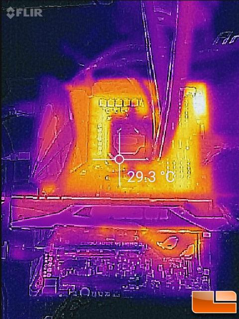 ASUS ROG Crosshair VI Hero Thermal Image
