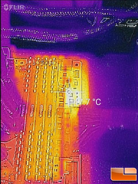 MSI X370 XPower Gaming Titanium Memory Power Phase Temperature
