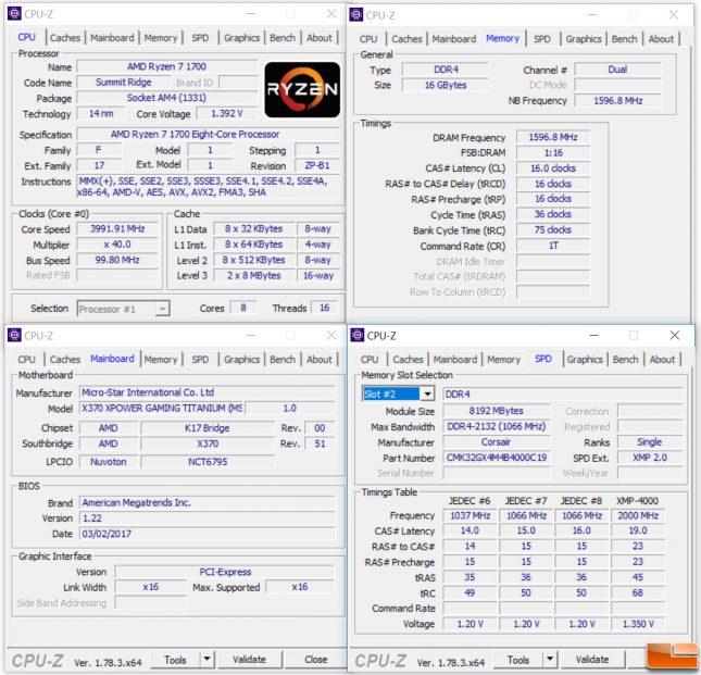 AMD Ryzen 7 Test System Settings