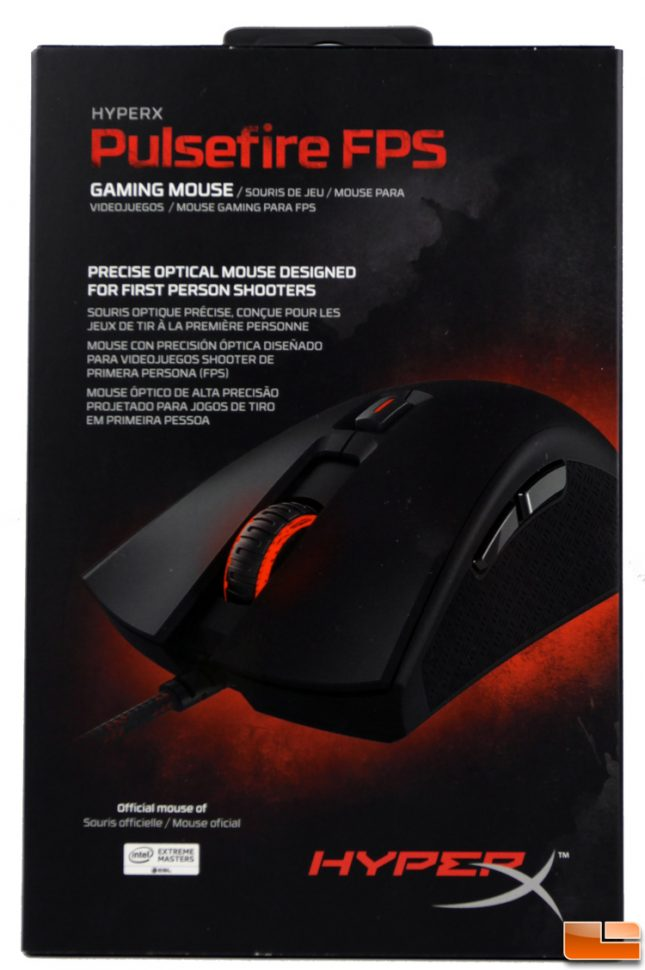 HyperX Pulsefire FPS Gaming Mouse Box
