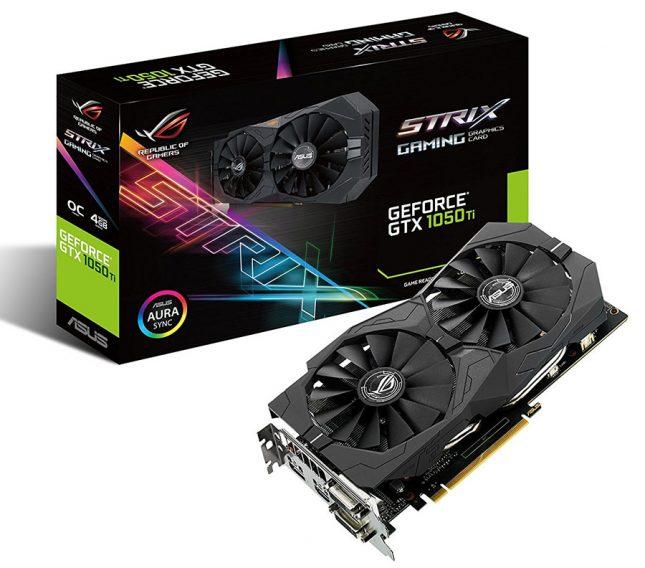 ASUS ROG Strix Gaming GeForce GTX 1050 Ti Video Card
