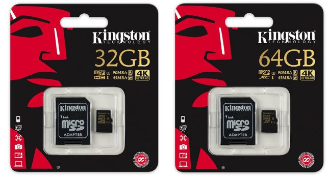 Kingston Digital 64GB microSD Class U3 UHS-I