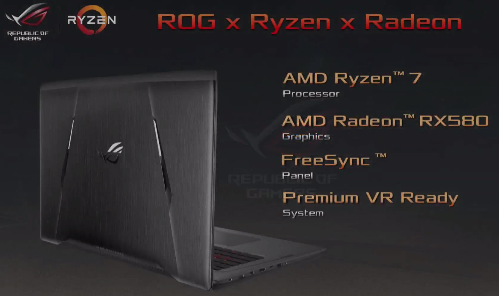 The First AMD Ryzen Gaming Laptop is the ASUS ROG Strix ...