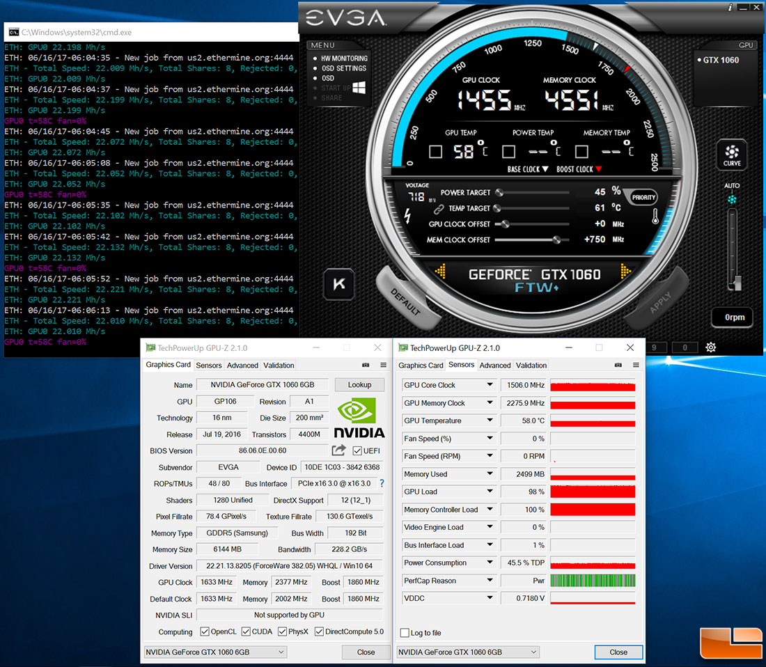 best cryptocurrency to mine using linux gtx 1060 now