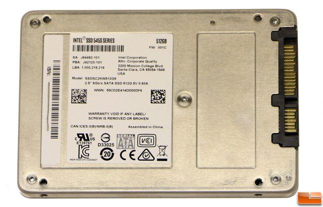 Intel SSD 545s 512GB 2.5-inch SSD