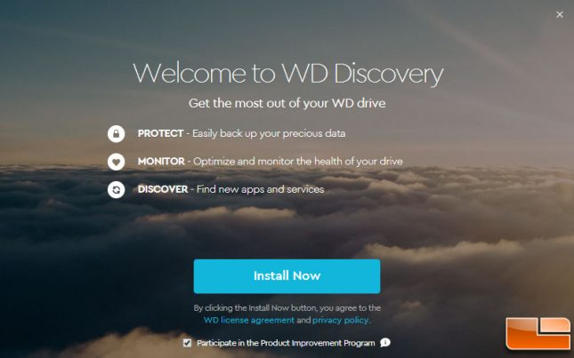 WD Discovery Utility