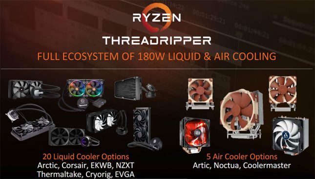 AMD Threadripper AIO Liquid and Air Coolers
