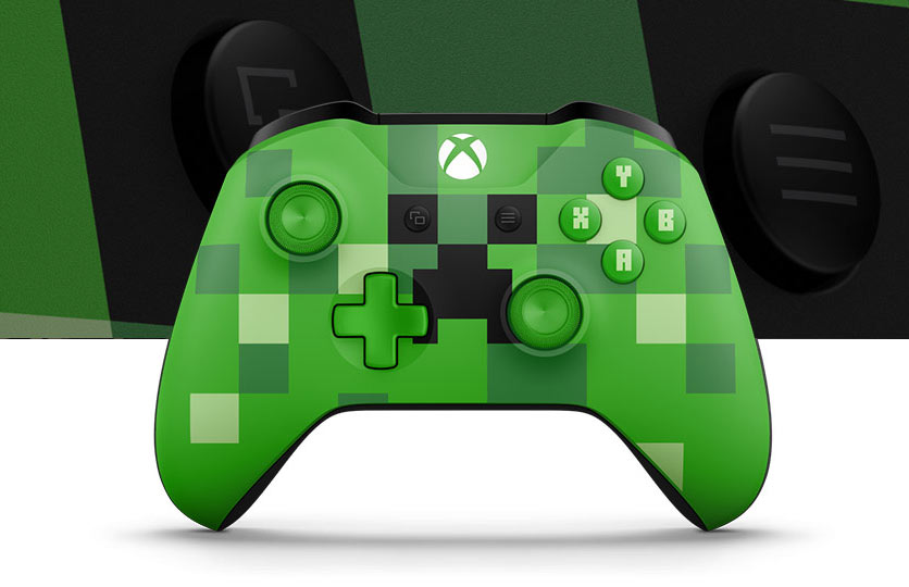 Xbox One S Minecraft Bundle Pig And Creeper Controllers