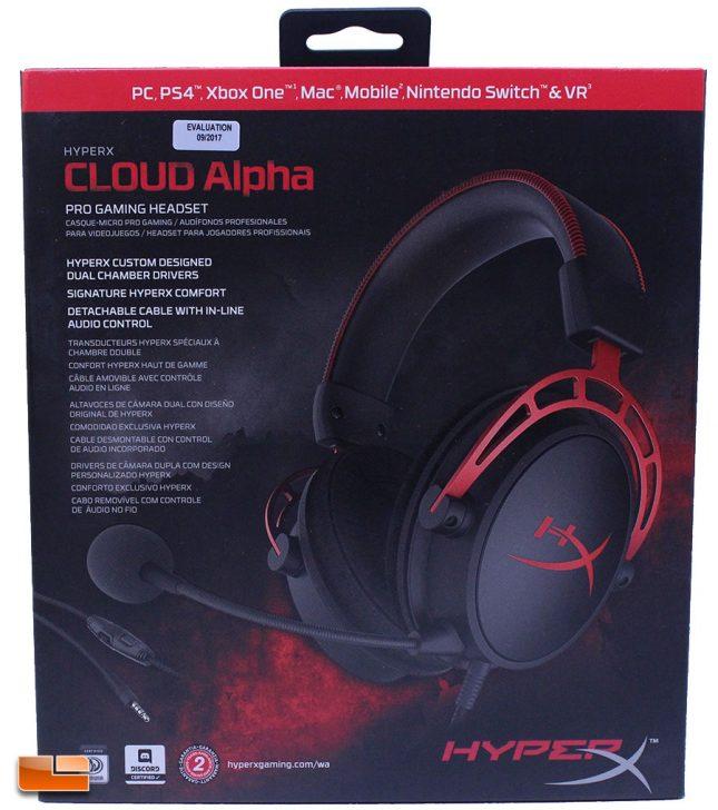 HyperX Cloud Alpha Retail Packaging