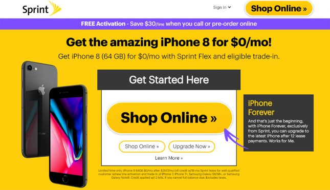 sprint iphone deals sprint offers some customers free iphone 8 deal legit 13035