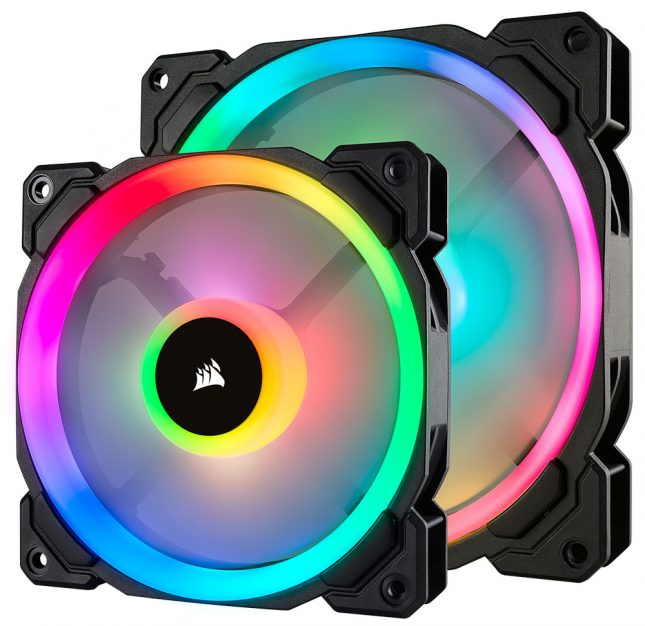 Corsair LL120 and LL140 RGB fans