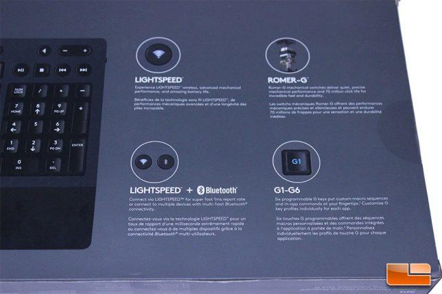 Logitech G613 Box Rear