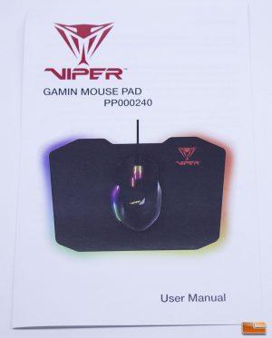 The Viper Gaming LED Mouse Pad - Instruction Manual