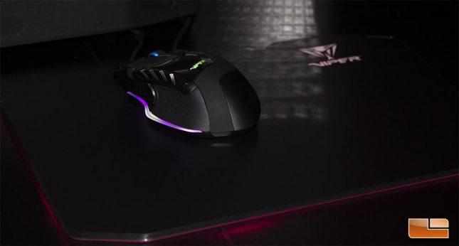 Viper V570 RGB Blackout w/Viper LED Gaming Mousepad