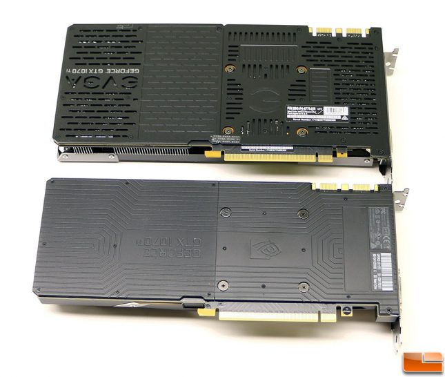 GeForce GTX 1070 Ti Video Card Backplates