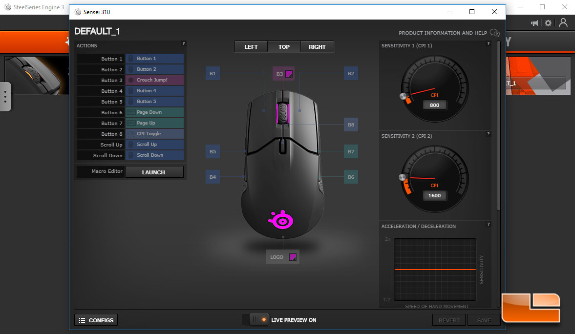 SteelSeries Sensei 310 ESports Gaming Mouse Review - Page 3