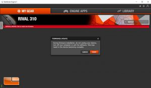 SteelSeries Rival 310 - Firmware Update in Engine 3